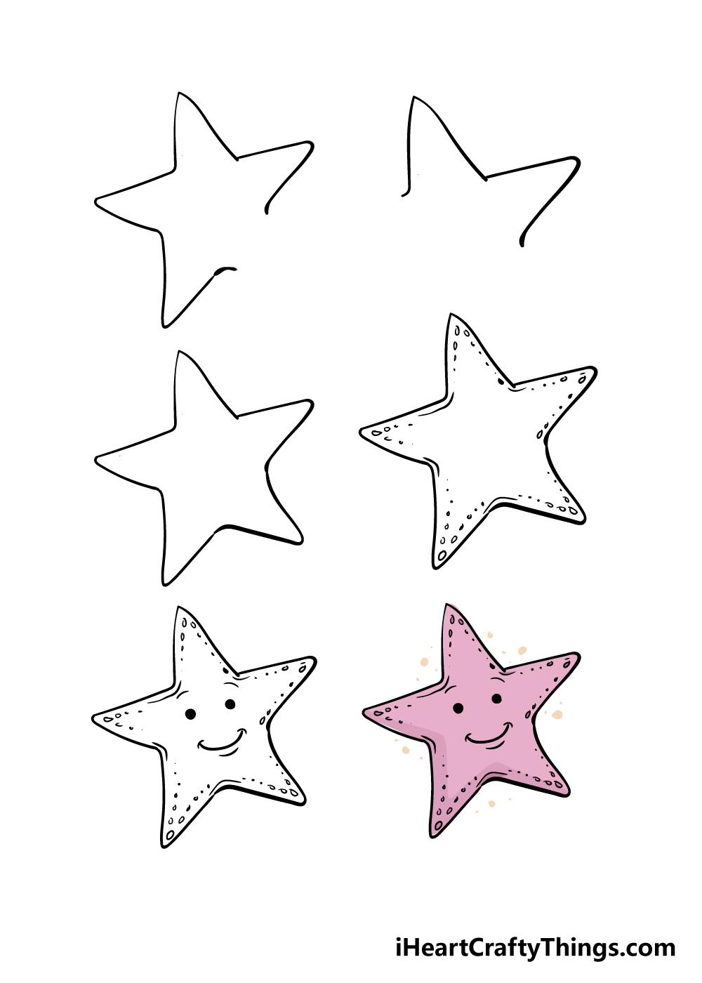 cách vẽ một con sao biển trong 6 bước