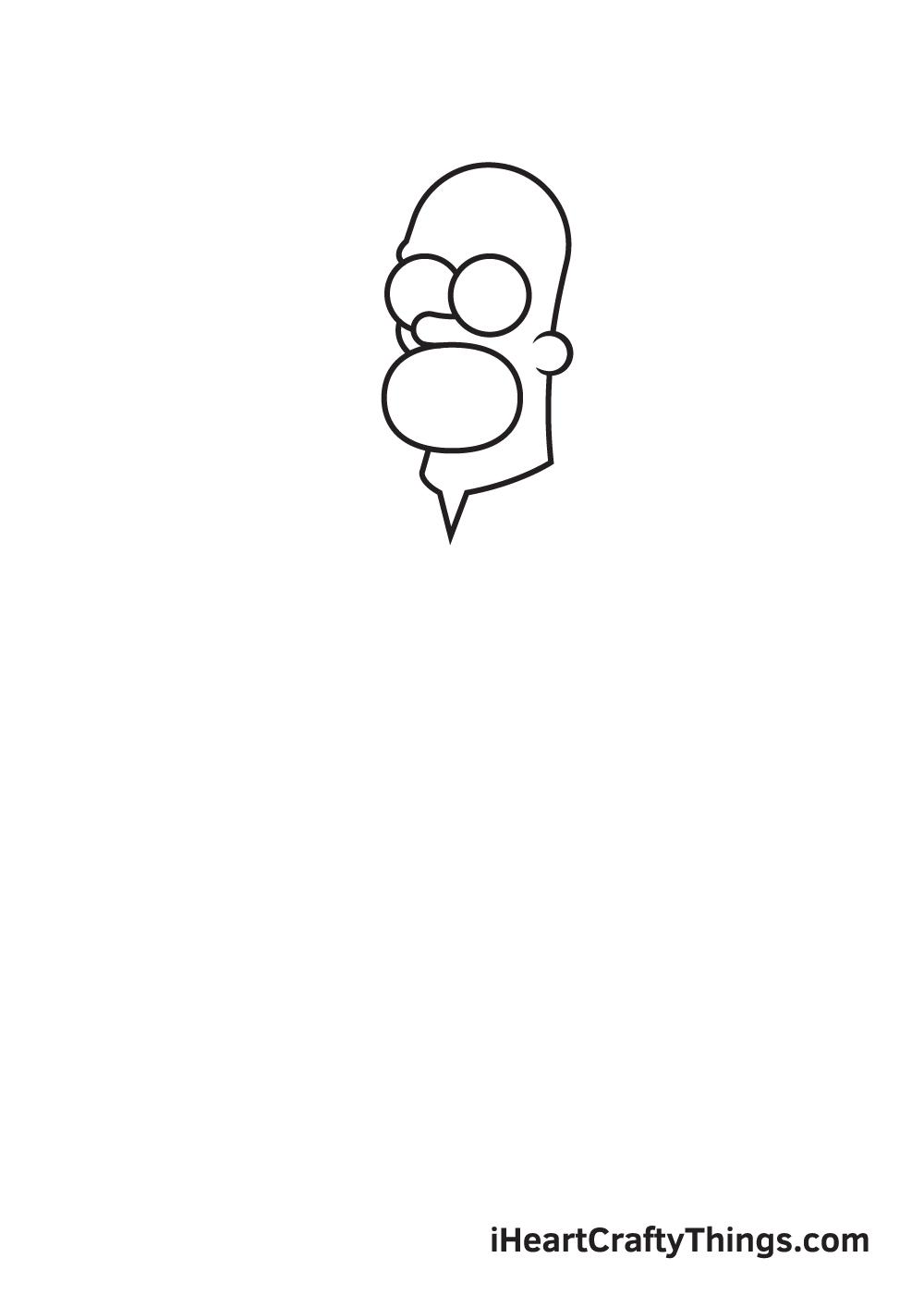 drawing homer simpson step 1