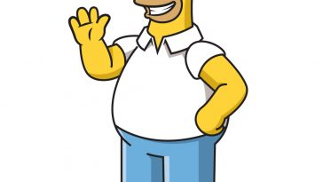 how to draw homer simpson image