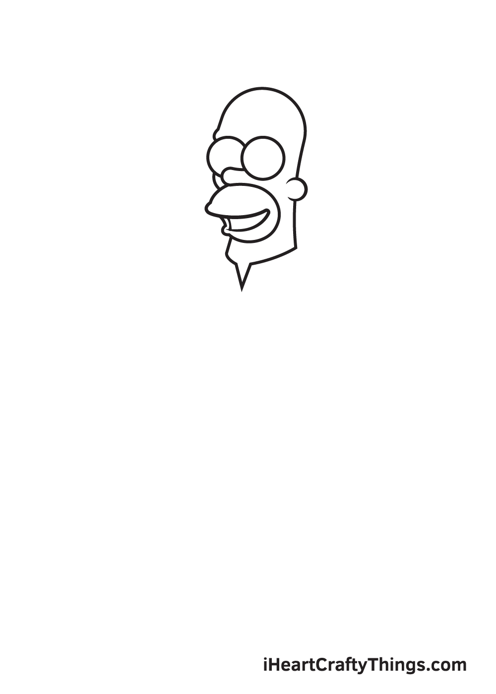 drawing homer simpson step 2