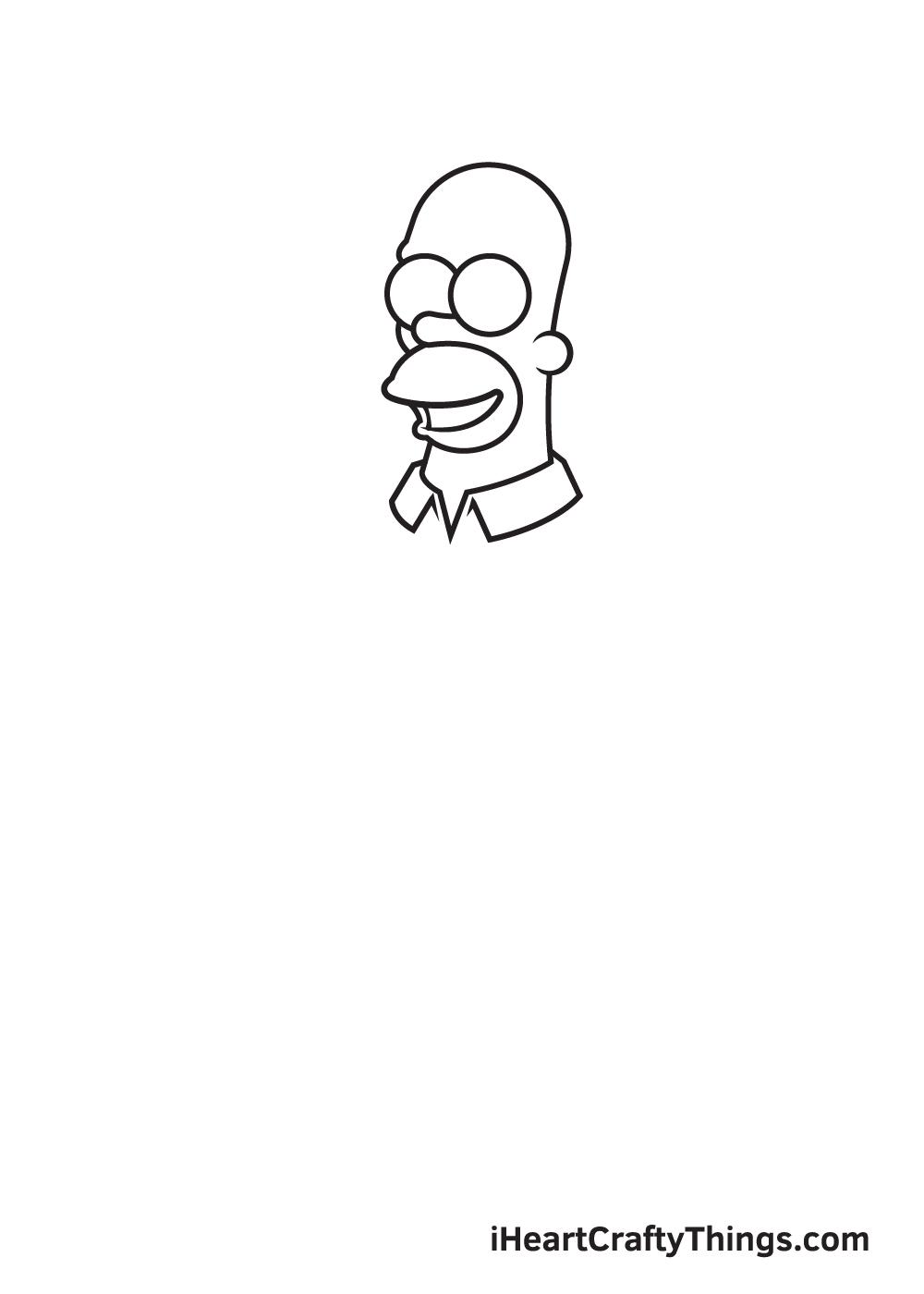 drawing homer simpson step 3