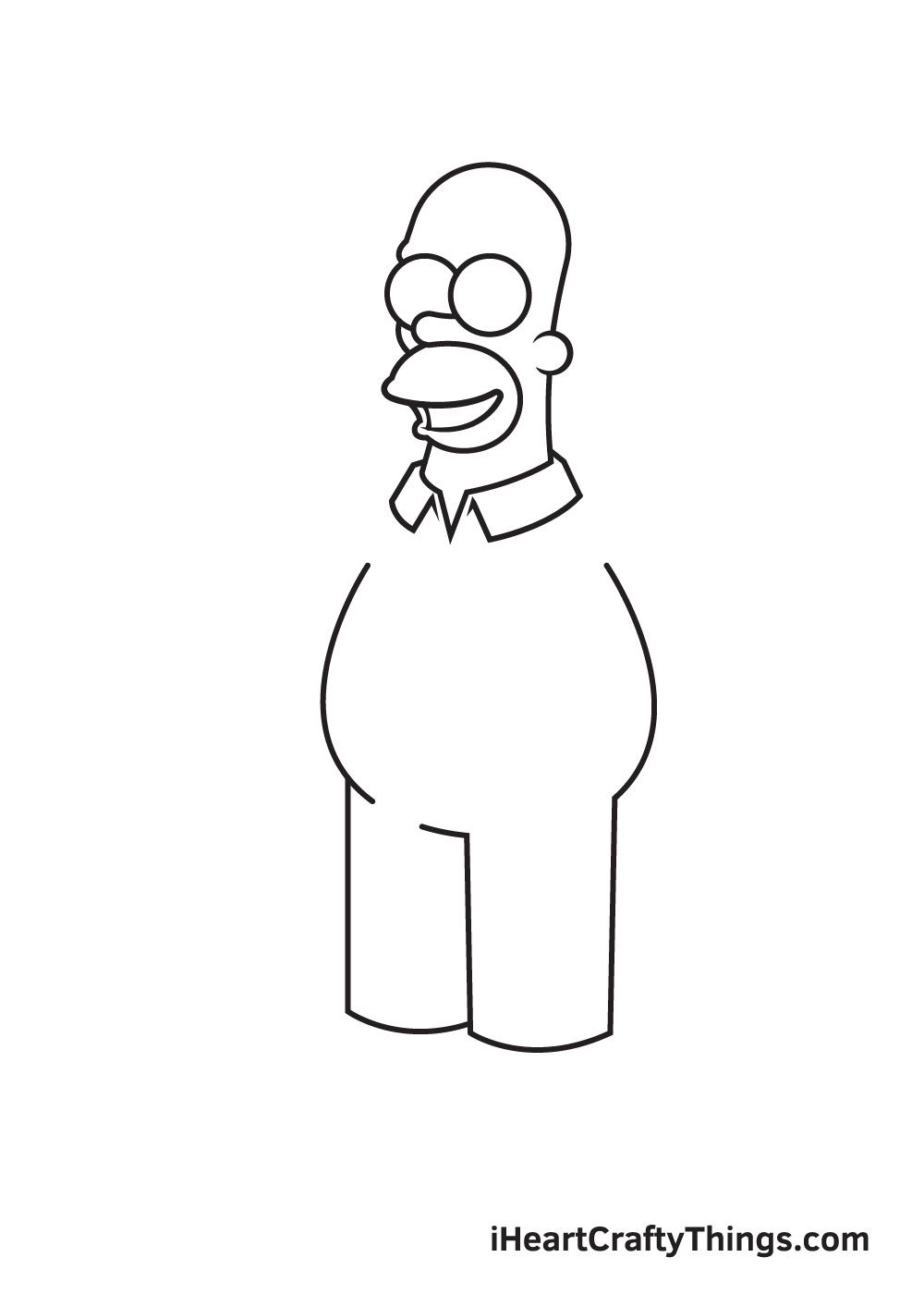 drawing homer simpson step 4