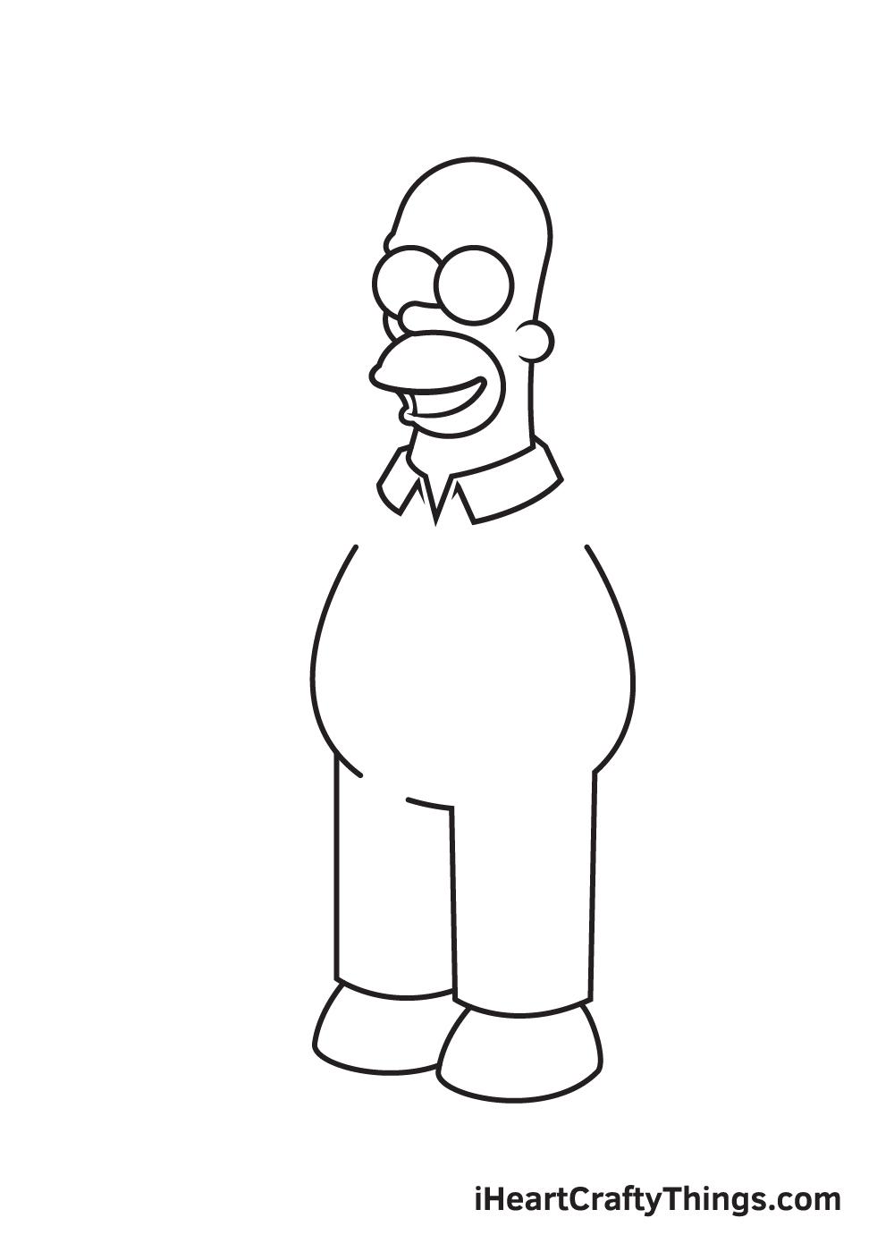 drawing homer simpson step 5