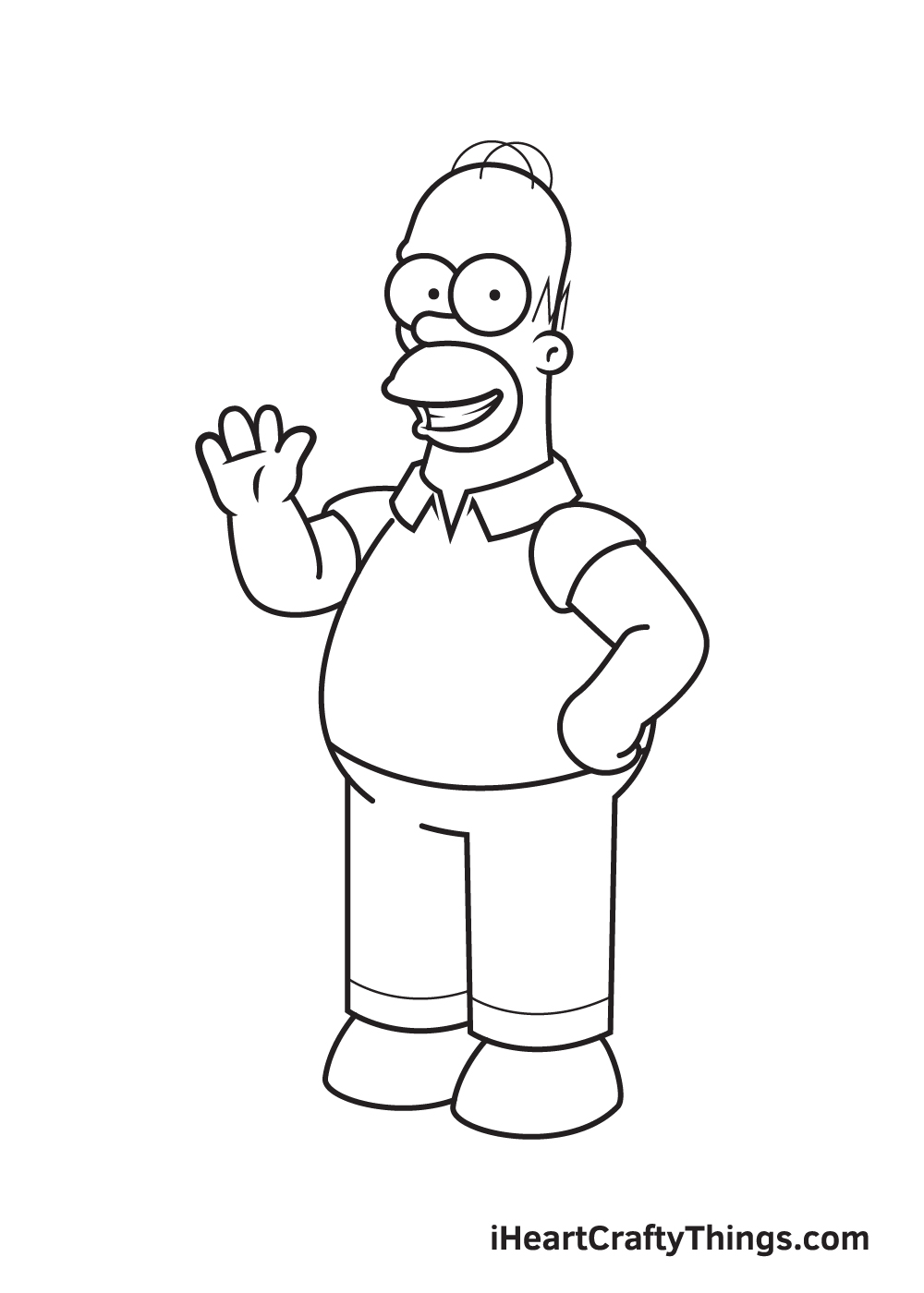 drawing homer simpson step 9