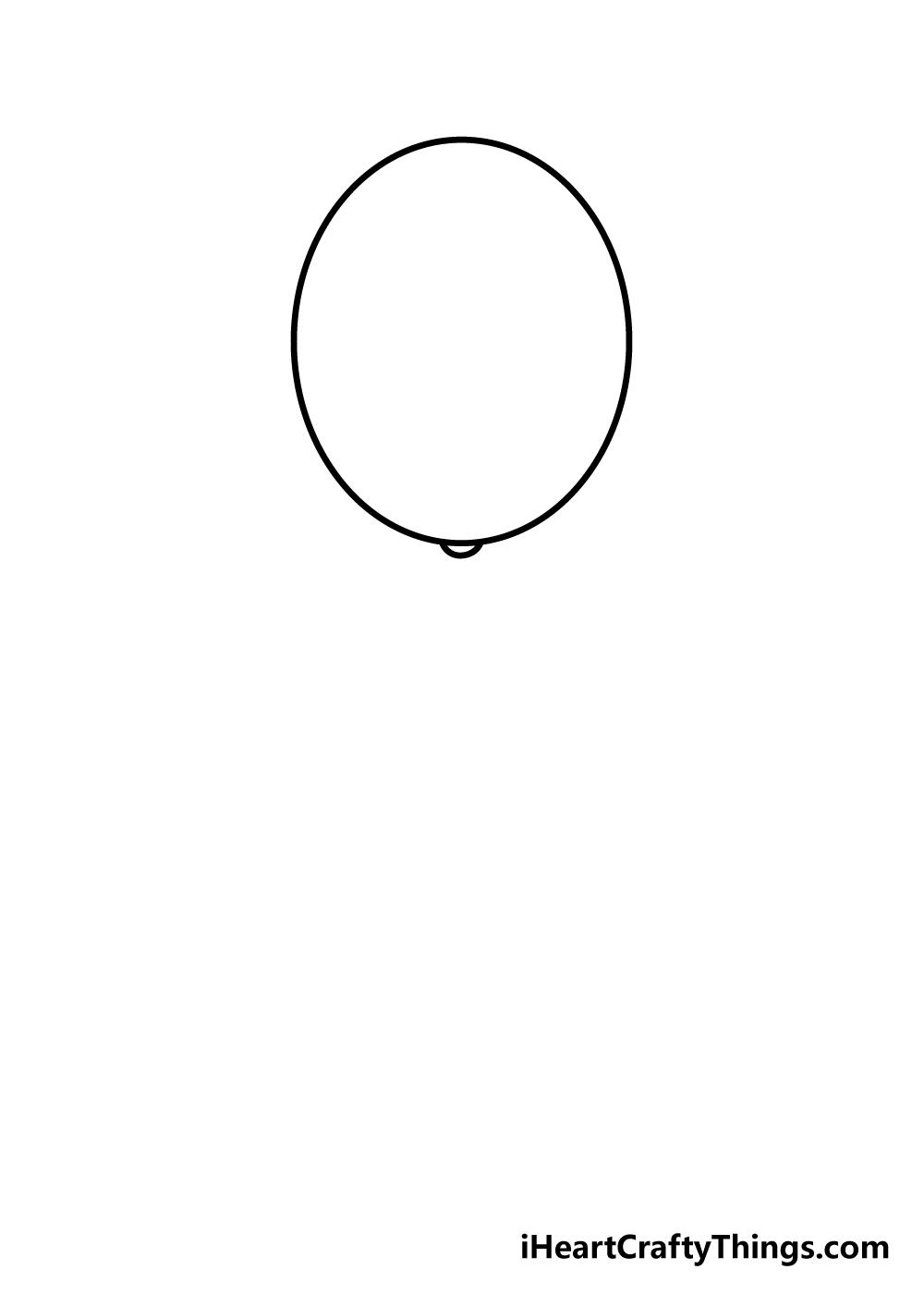 balloons drawing step 3