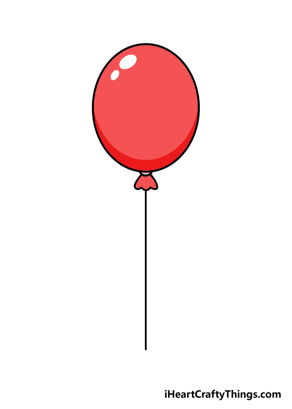 balloons drawing step 6