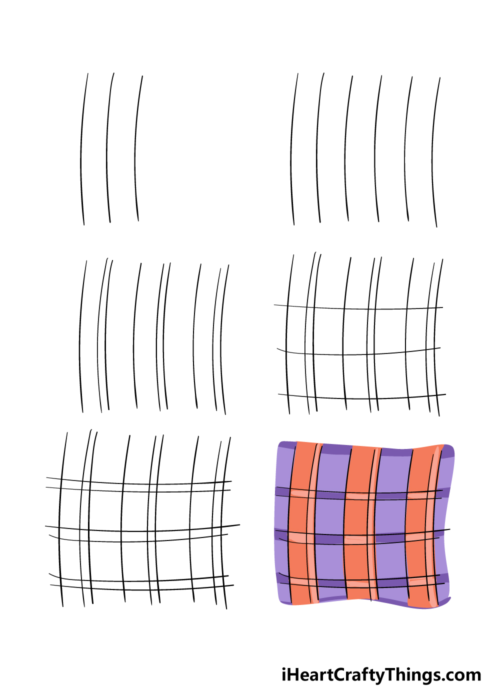 how to draw plaid in 6 steps
