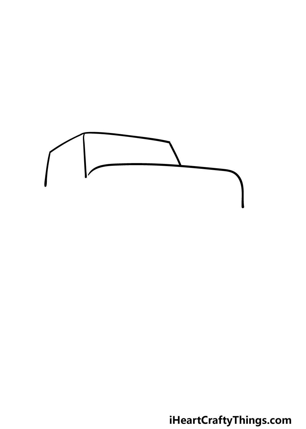 drawing a jeep step 1
