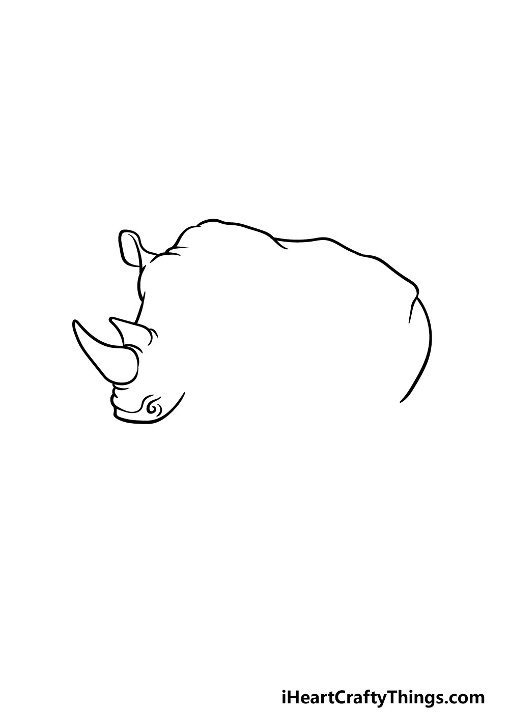 drawing a rhino step 1
