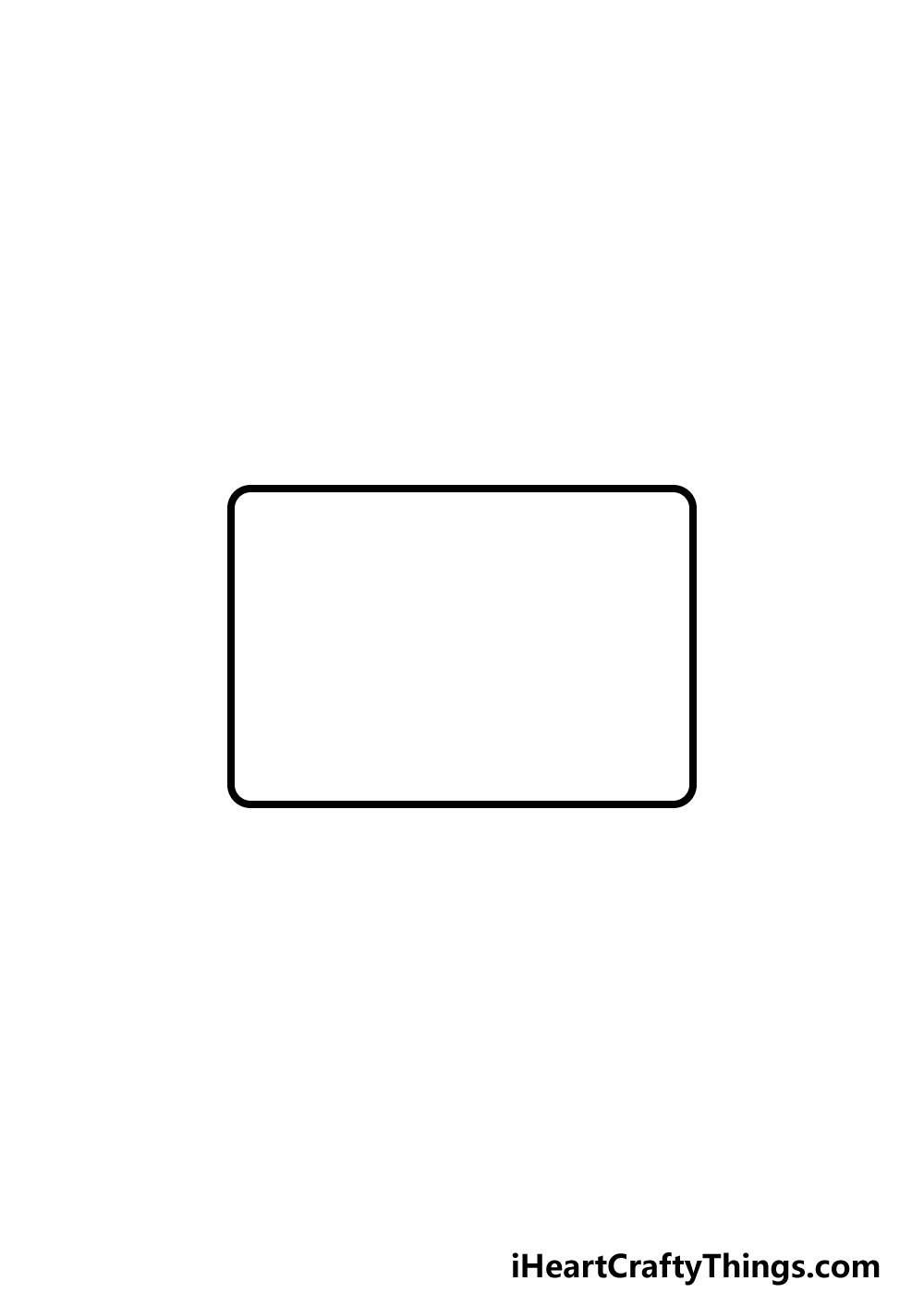 drawing a TV step 1