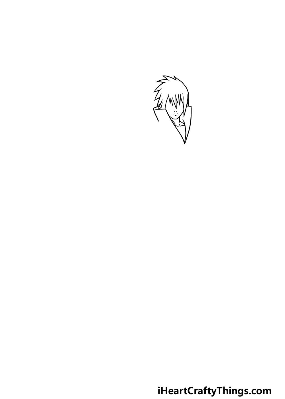 drawing Sasuke step 1