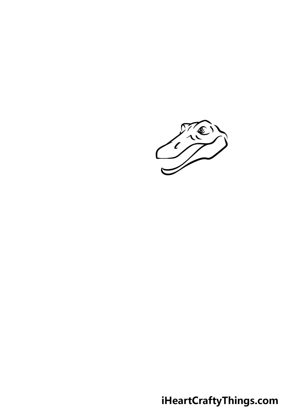 drawing Spinosaurus step 1