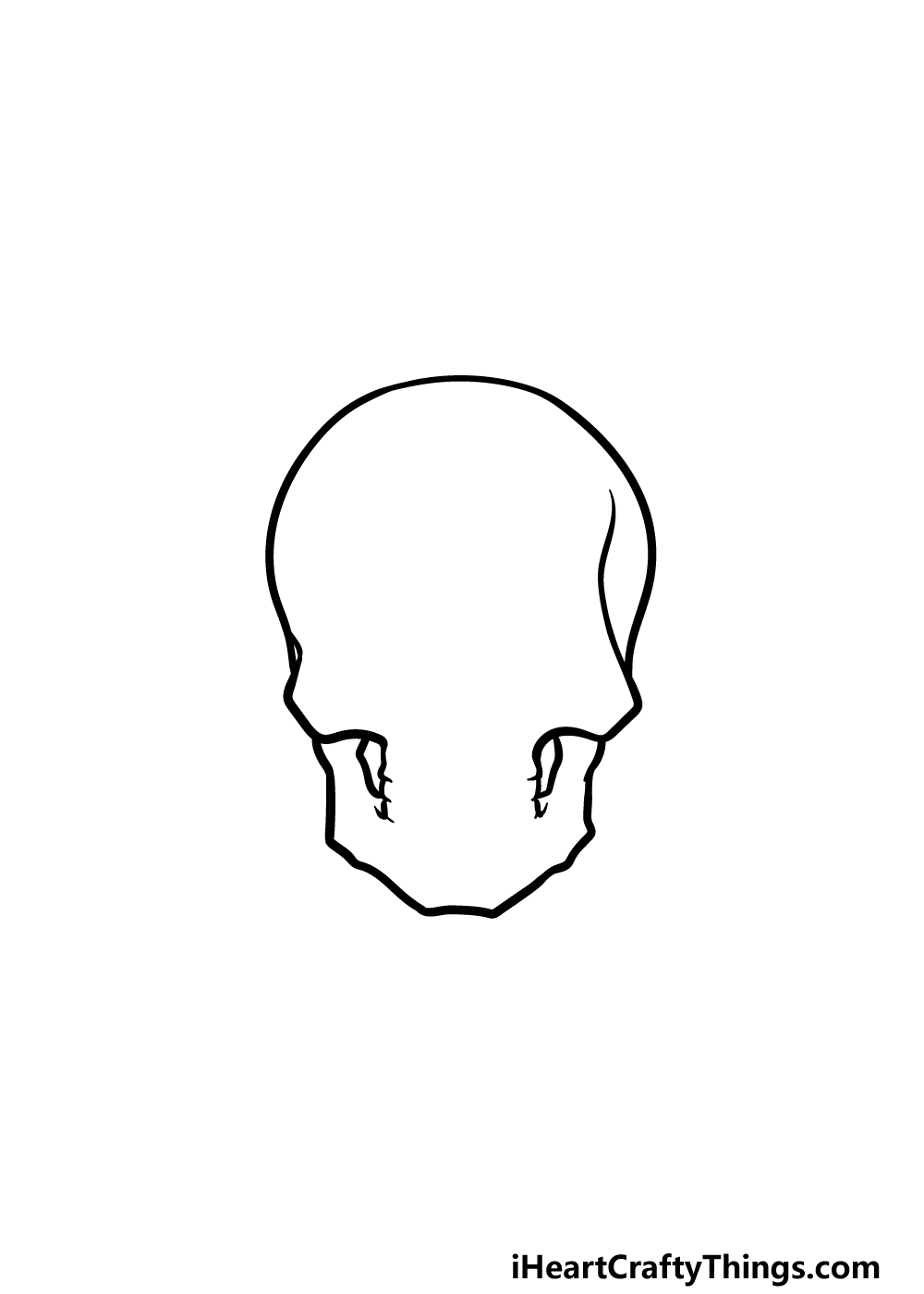 drawing a skeleton head step 1