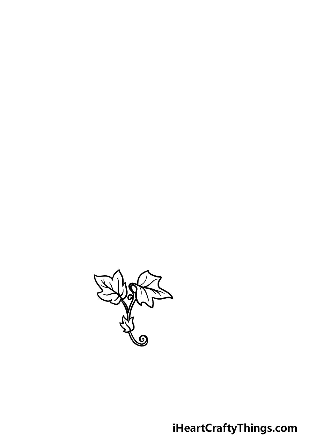drawing vines step 1