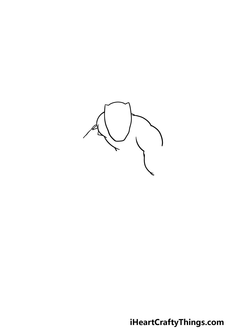 drawing Black Panther step 1