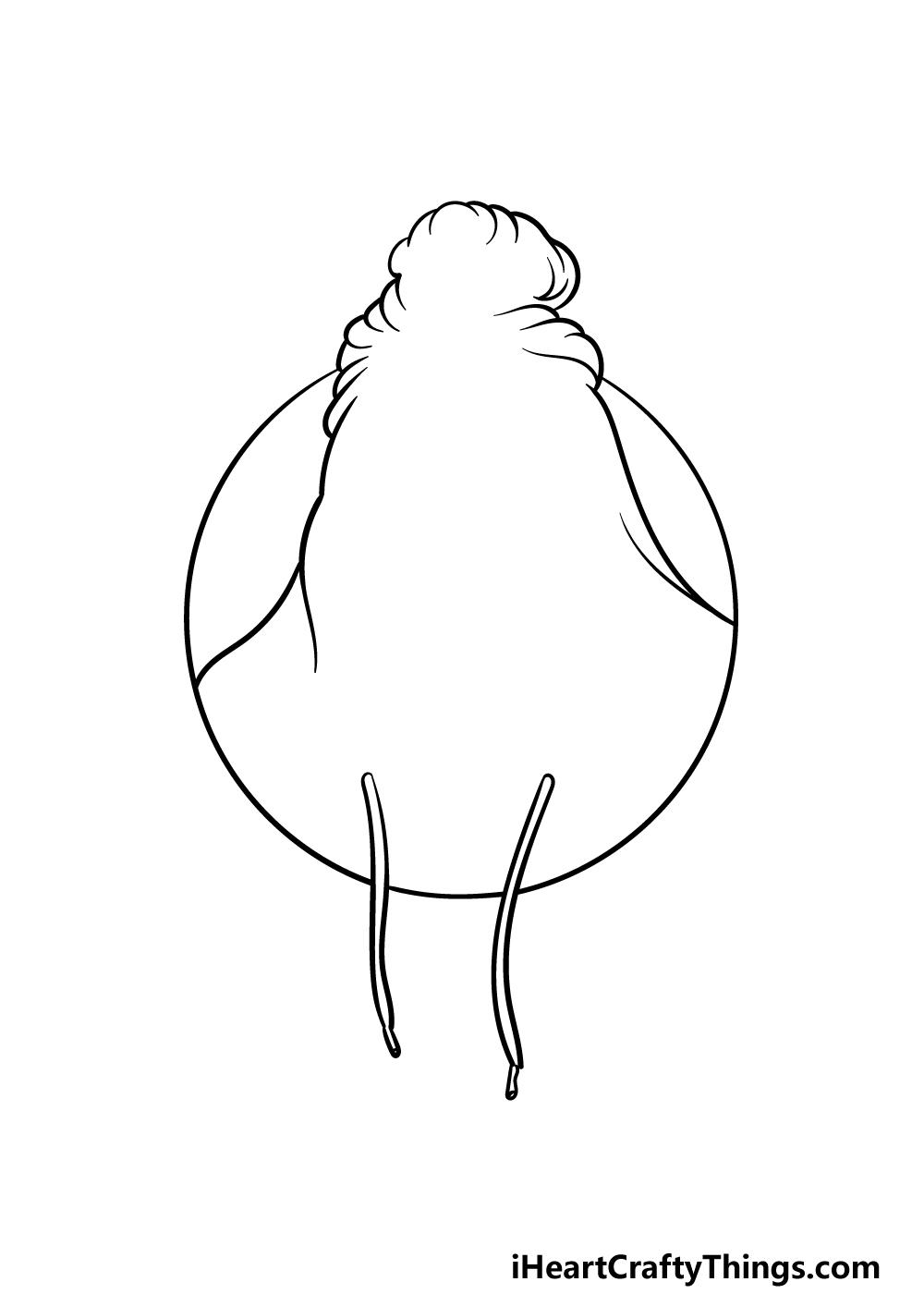 drawing Billie Eilish step 1