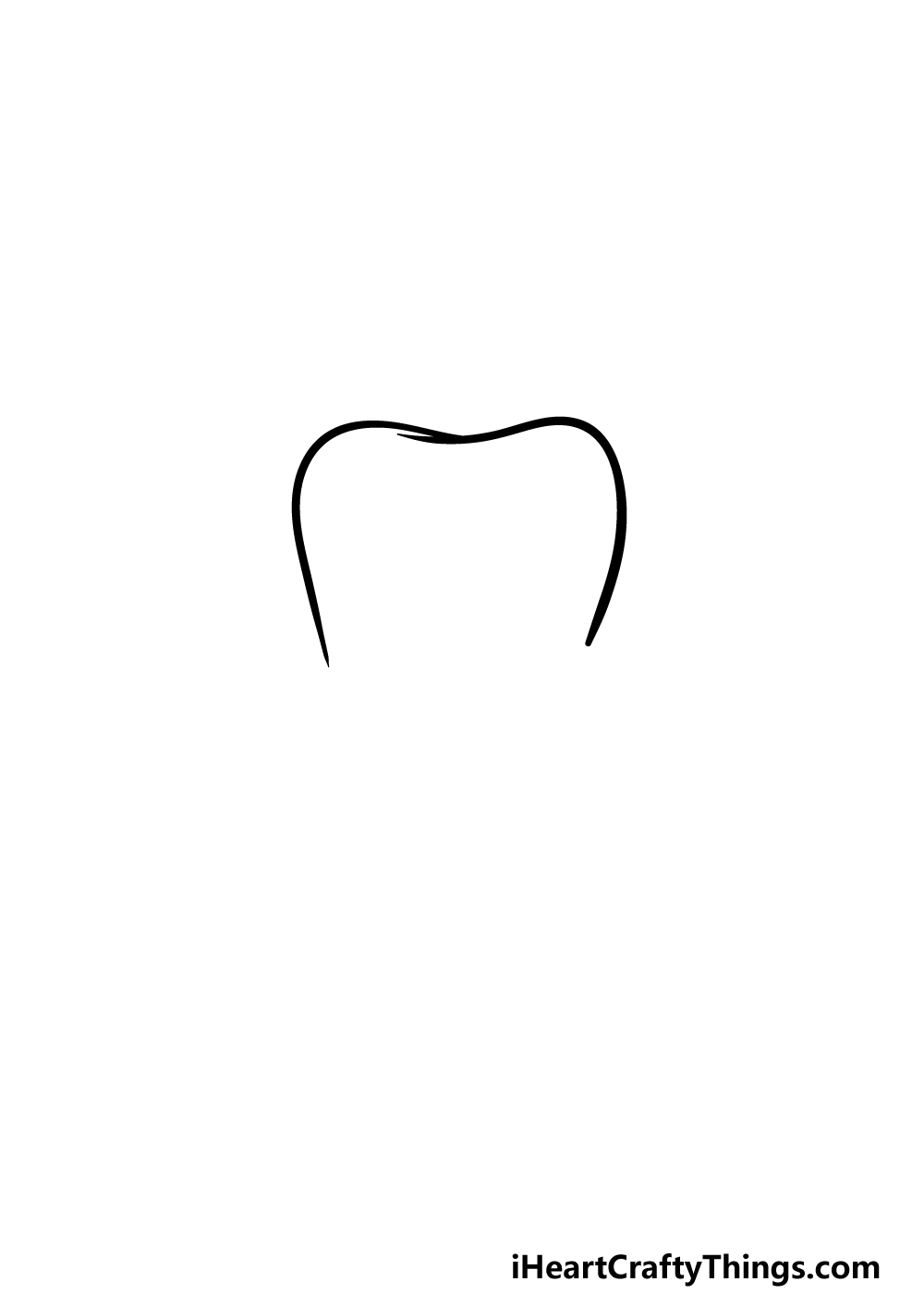 drawing a tooth step 1