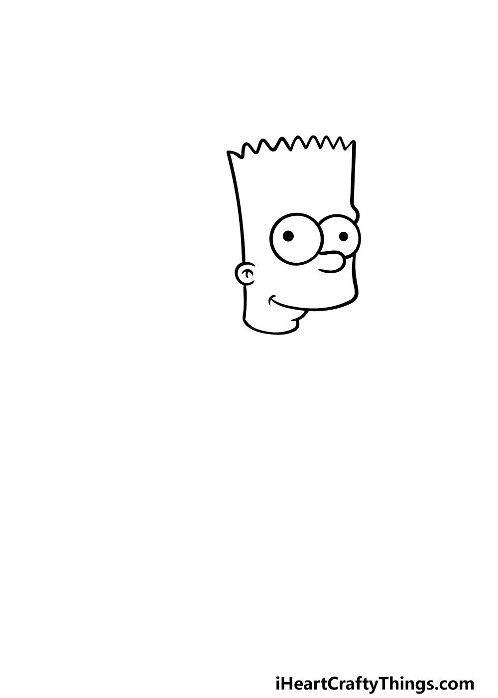 drawing Bart Simpson step 1