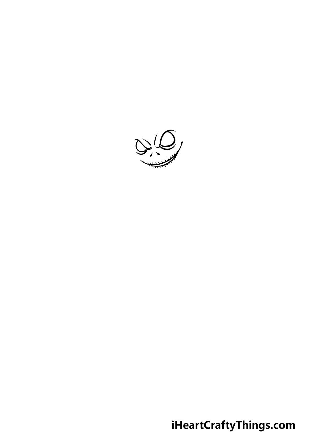 Drawing Jack Skellington step 1