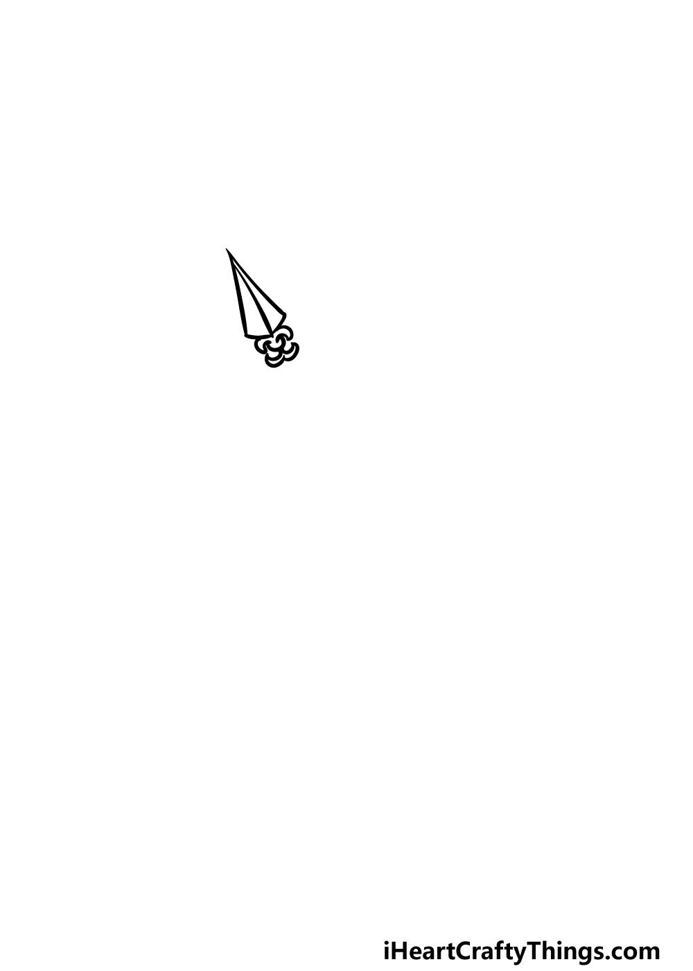 drawing an arrow step 1