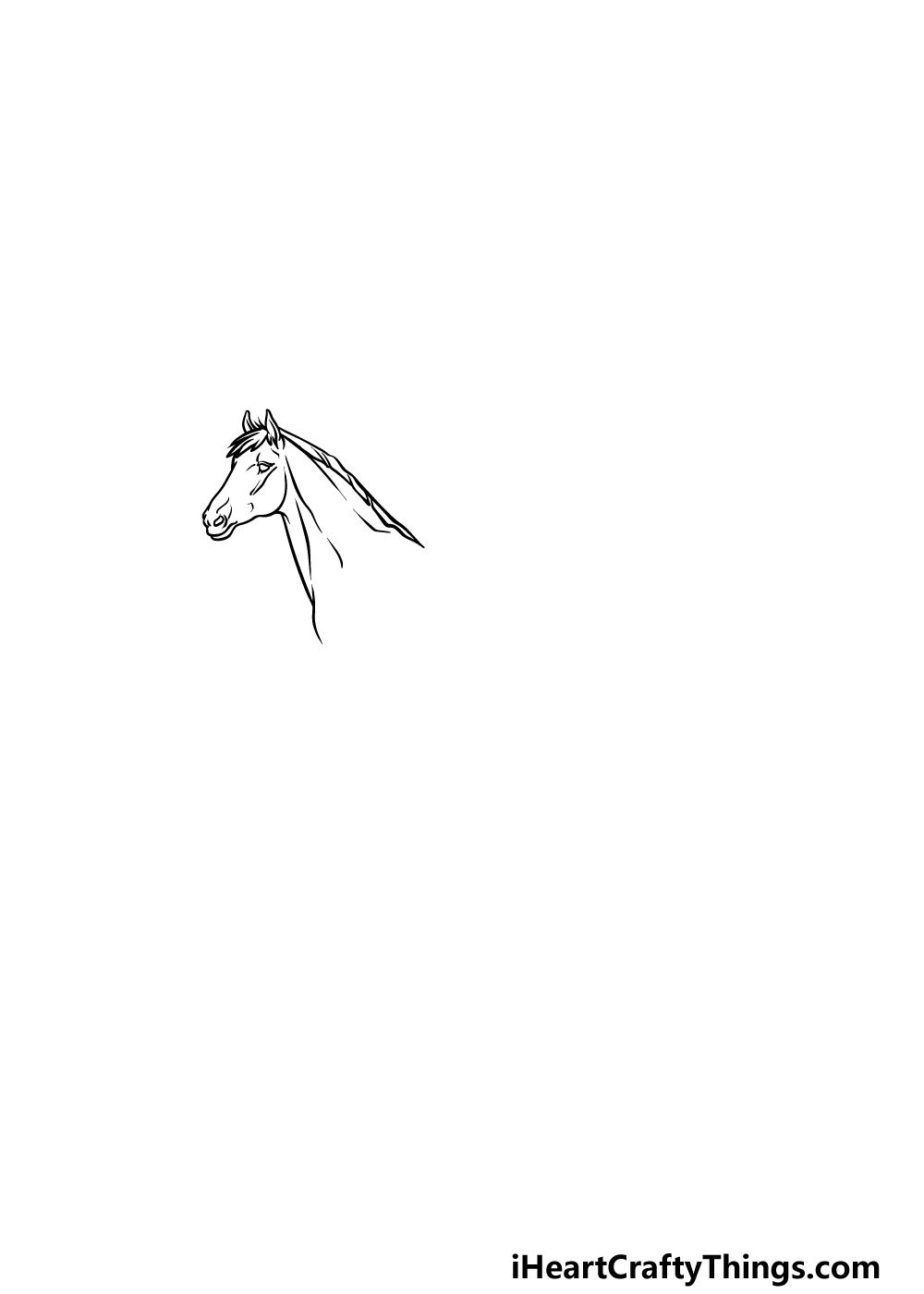 drawing a horse step 1