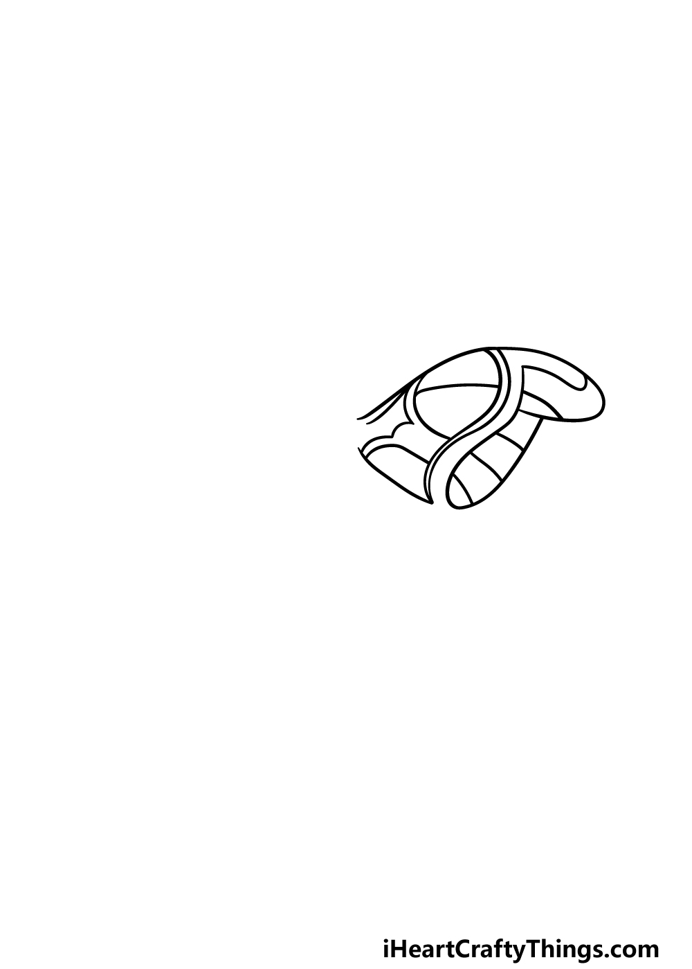 drawing a moth step 1