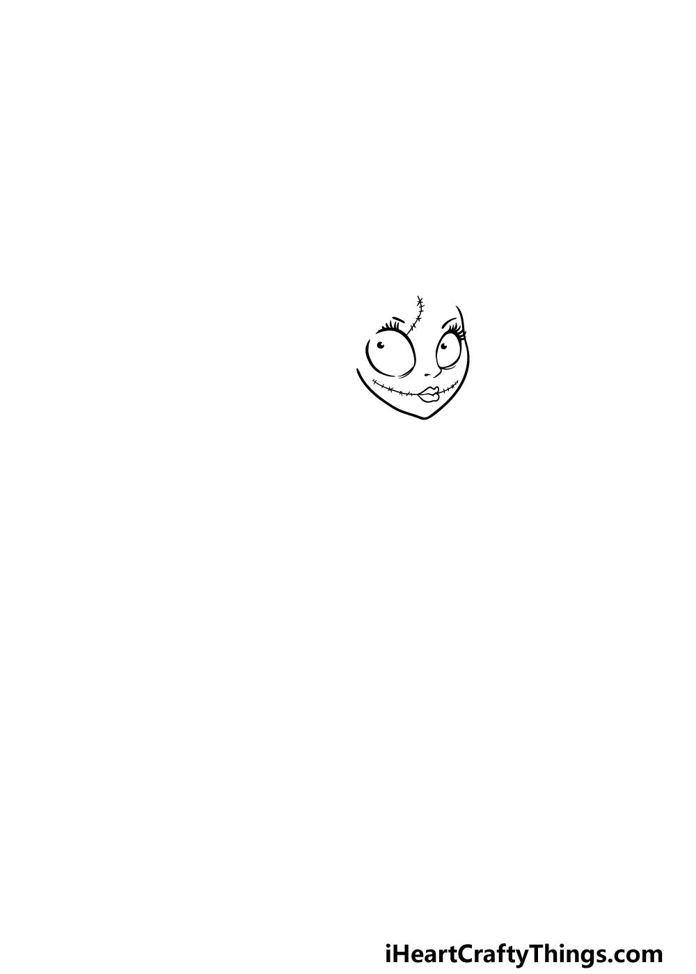 drawing Nightmare Before Christmas step 1