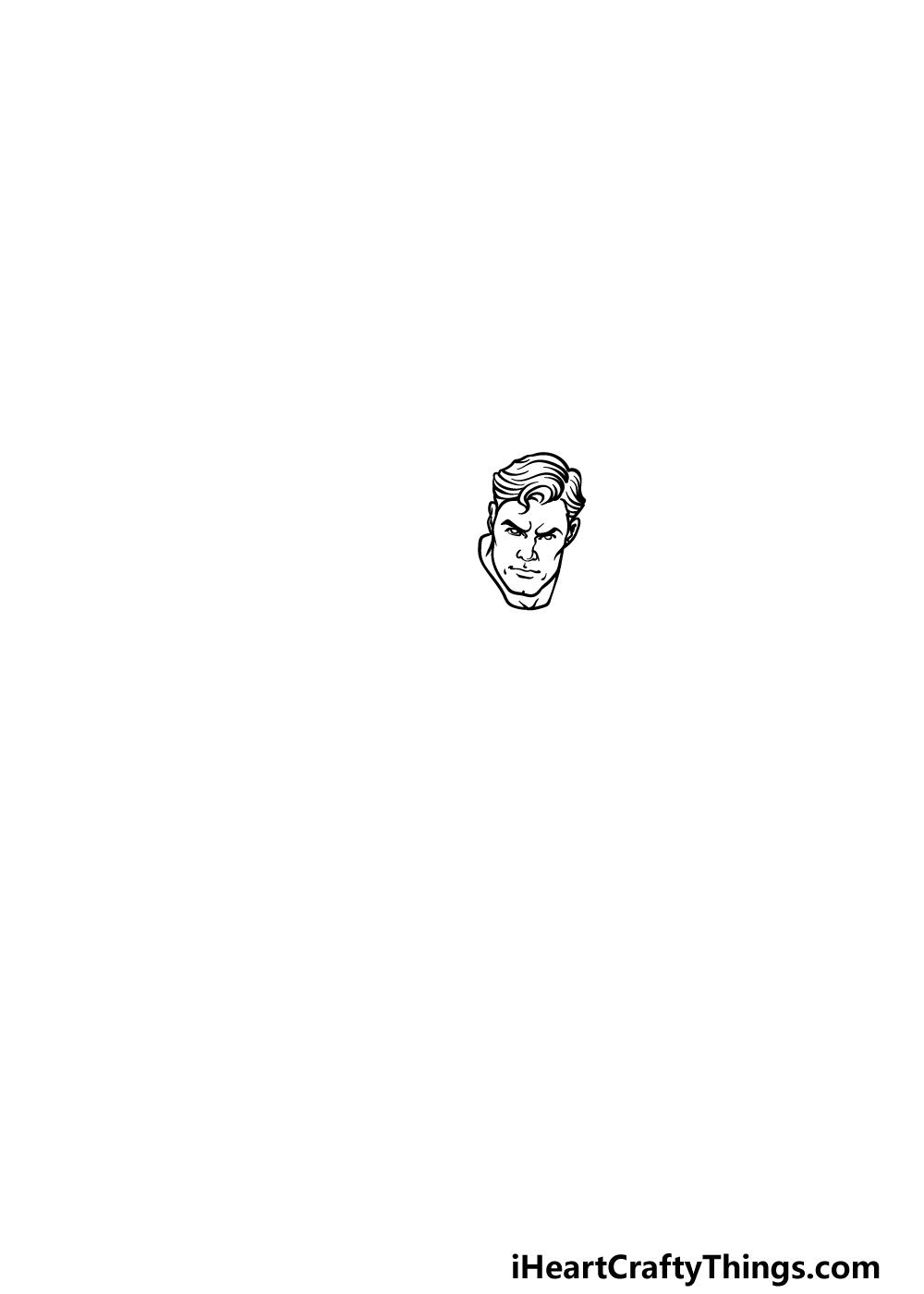 drawing Superman step 1