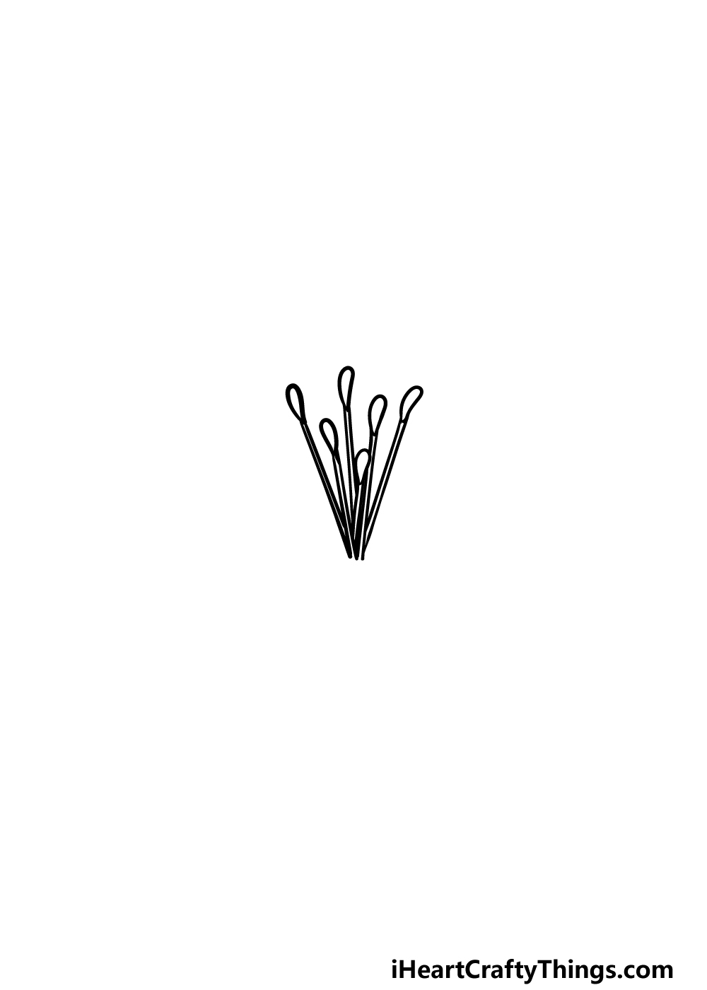 drawing Lily Flower step 1
