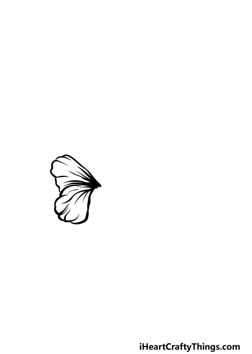drawing hibiscus step 1