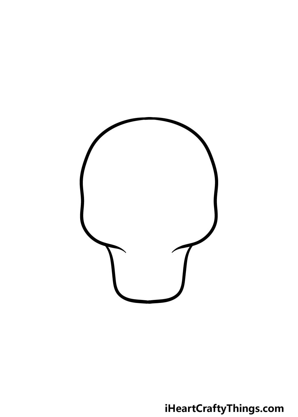 drawing a sugar skull step 1