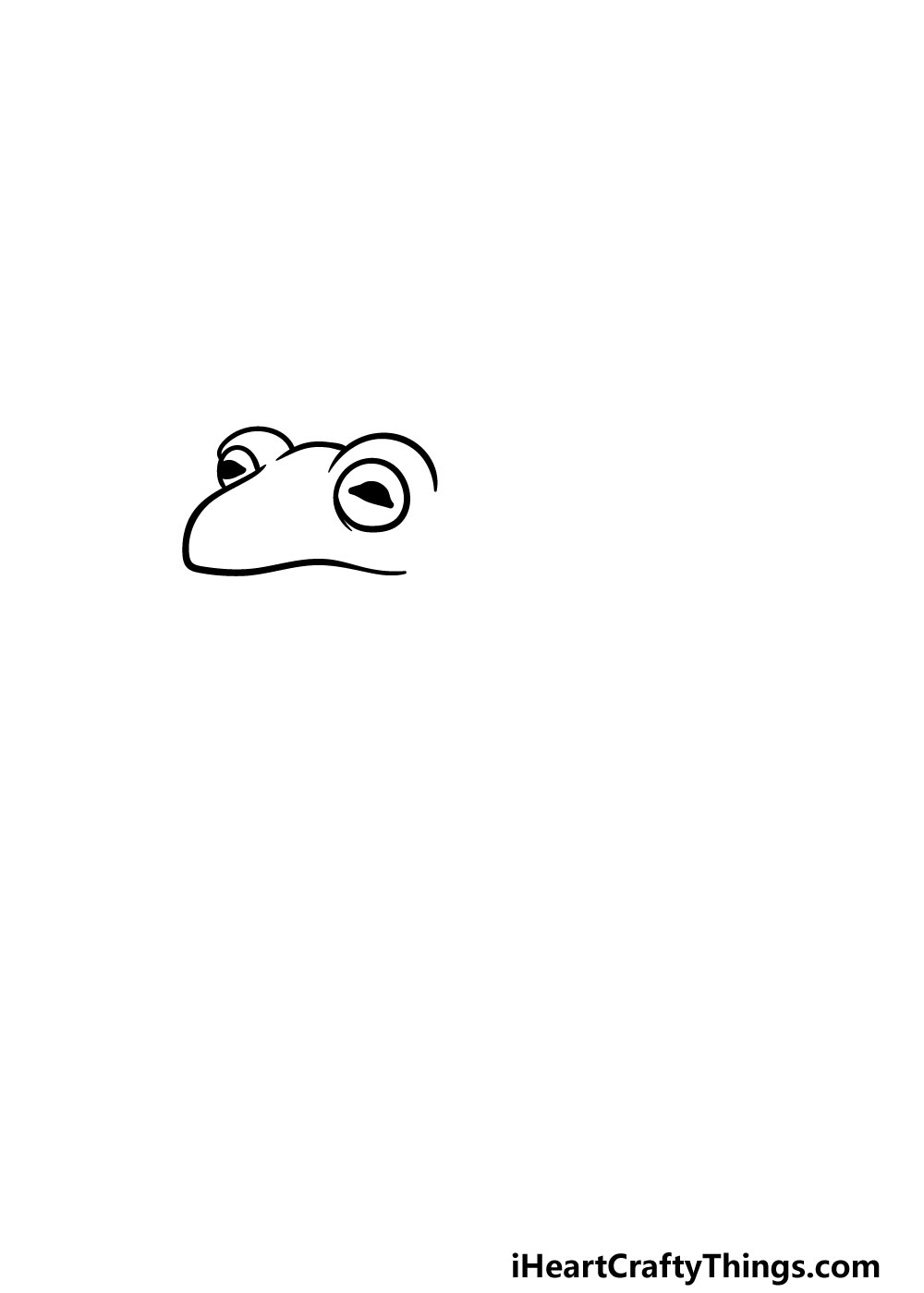drawing a toad step 1
