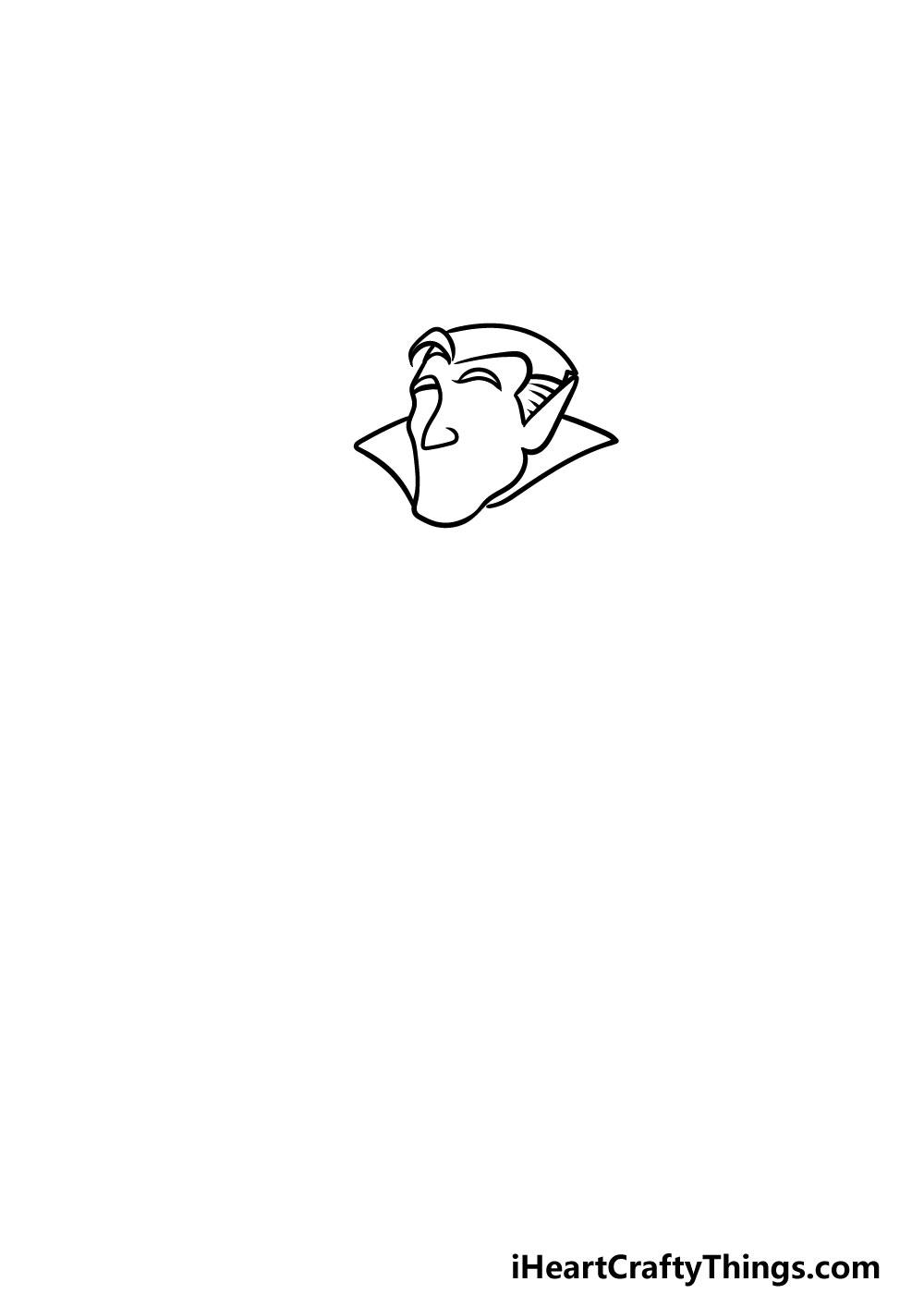 drawing a vampire step 1