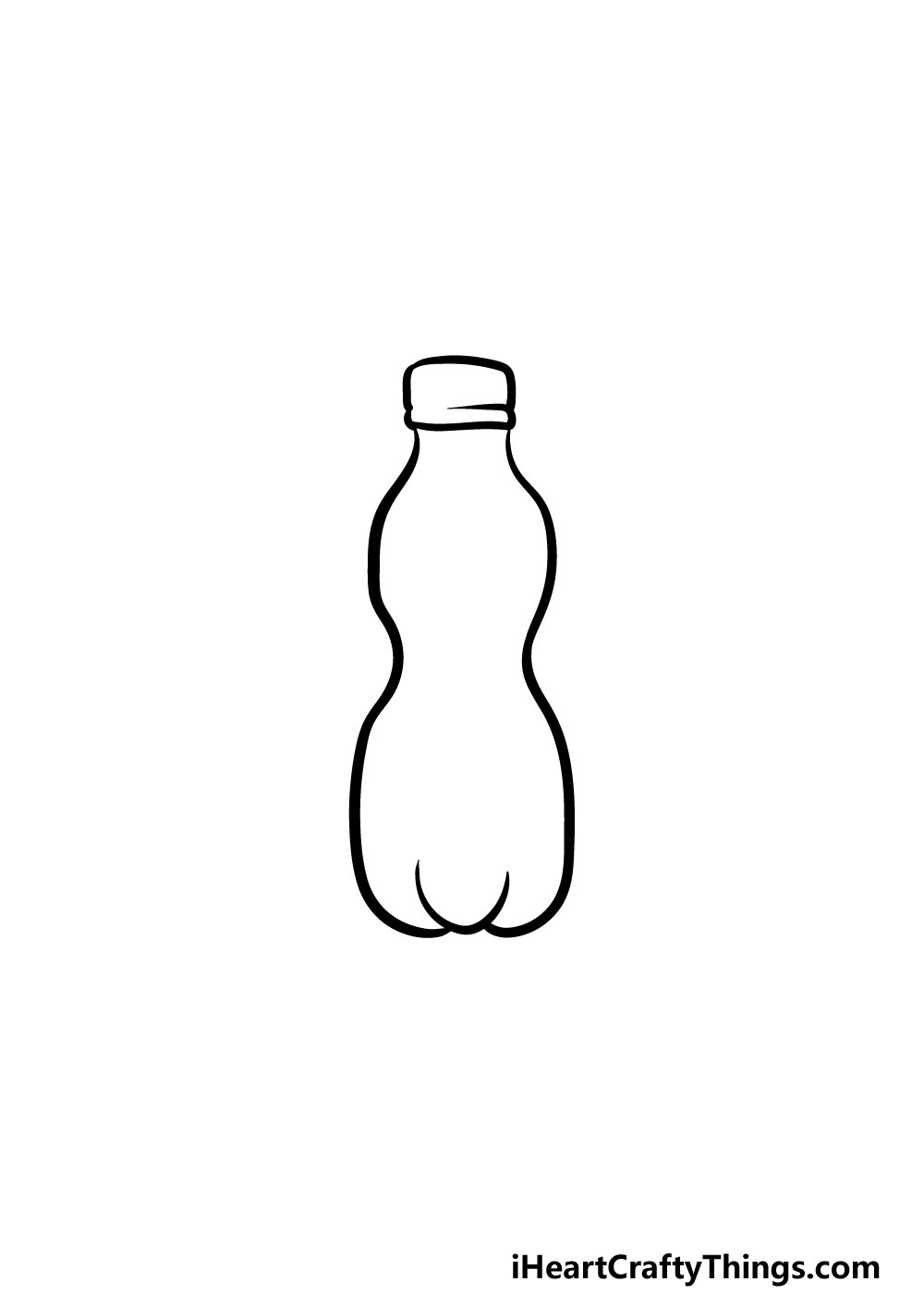 drawing a water bottle step 1