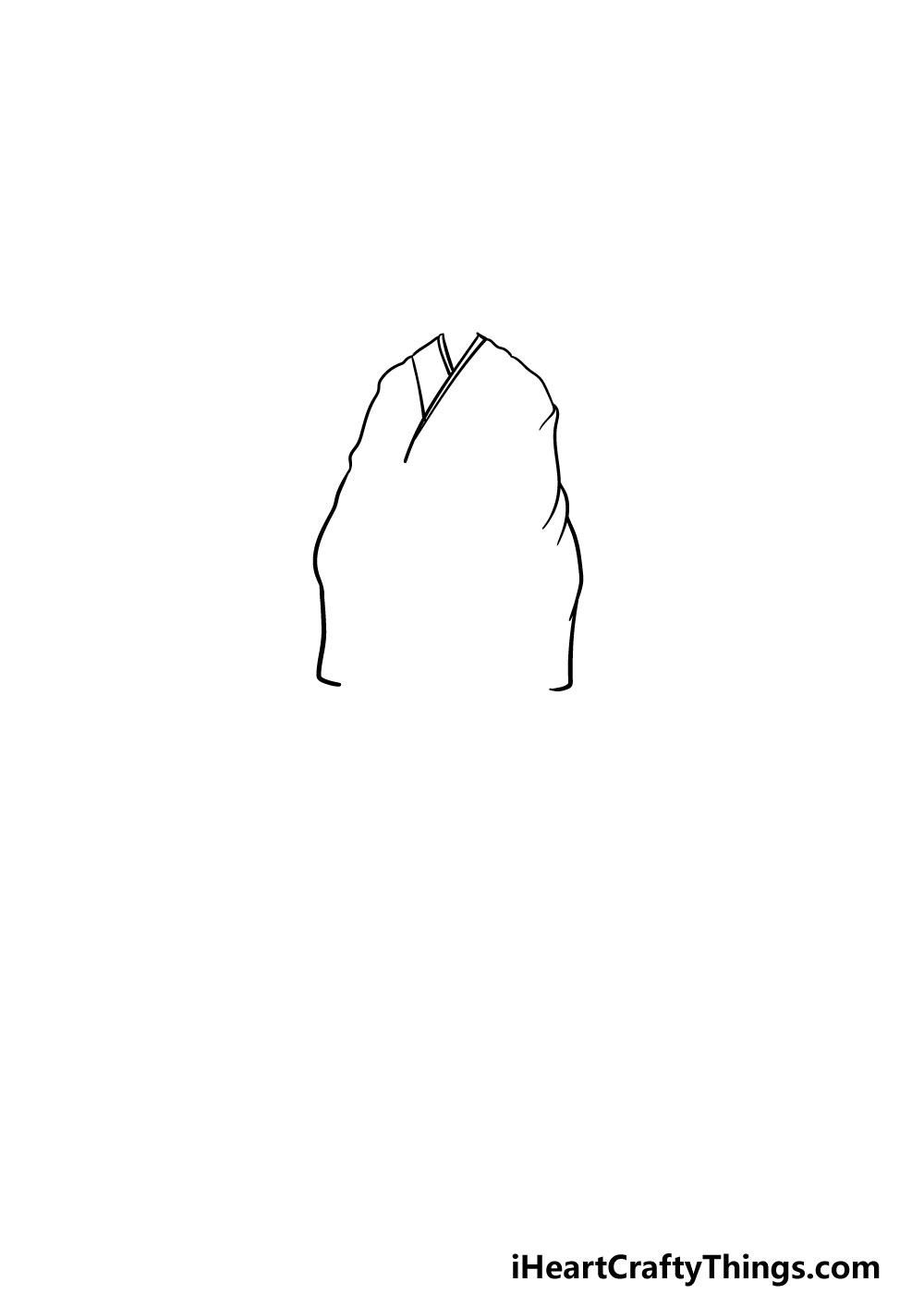 drawing anime clothes step 1