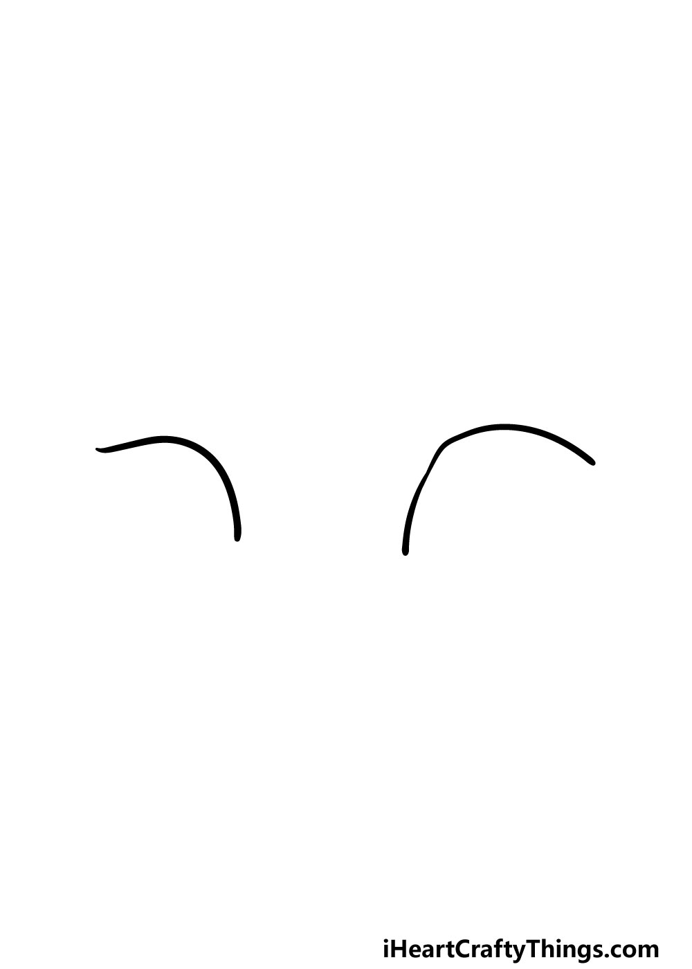 drawing cat's eyes step 1