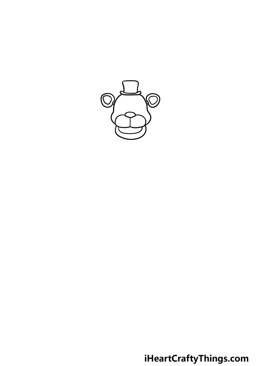 drawing Freddy Fazbear step 1
