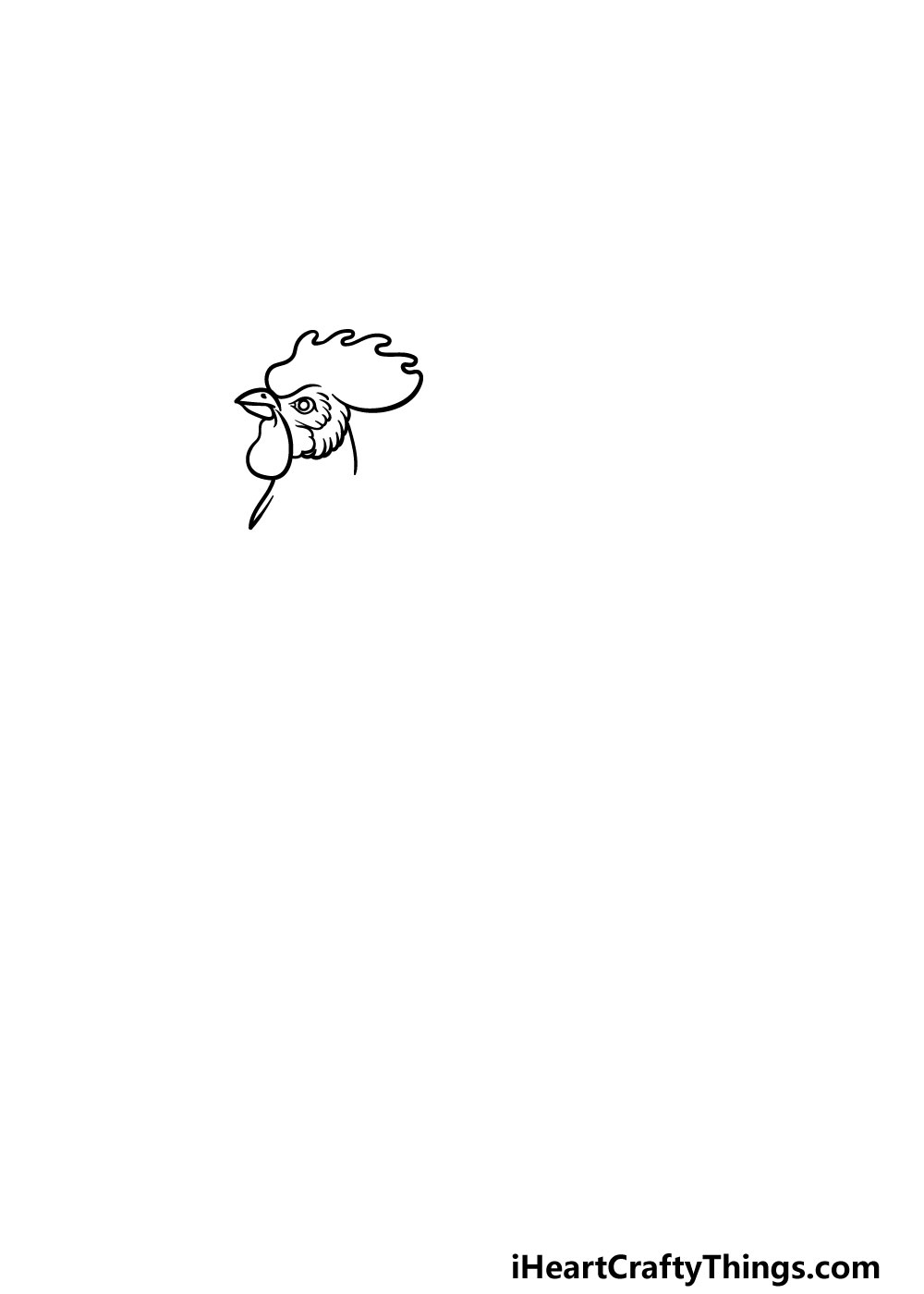 drawing a rooster step 1