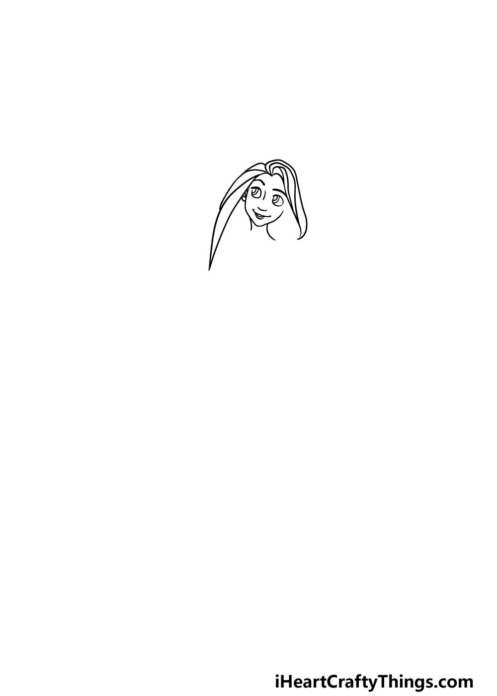 drawing Rapunzel step 1
