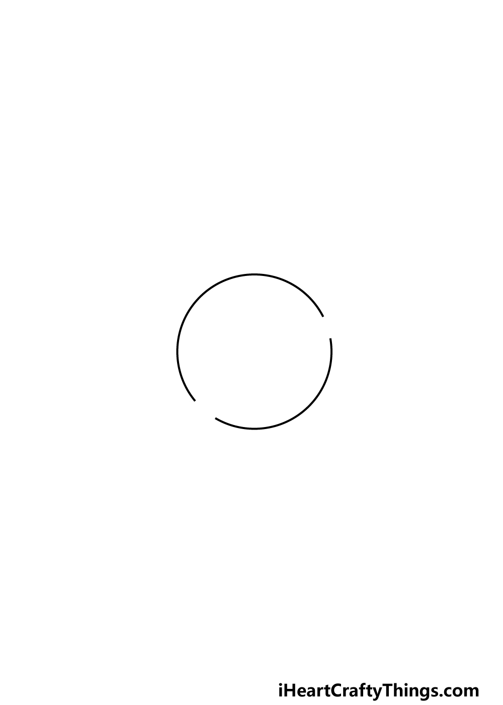 drawing Saturn step 1