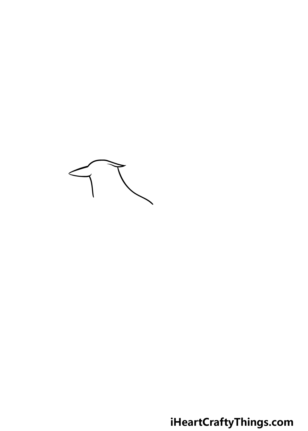 drawing a blue jay step 1