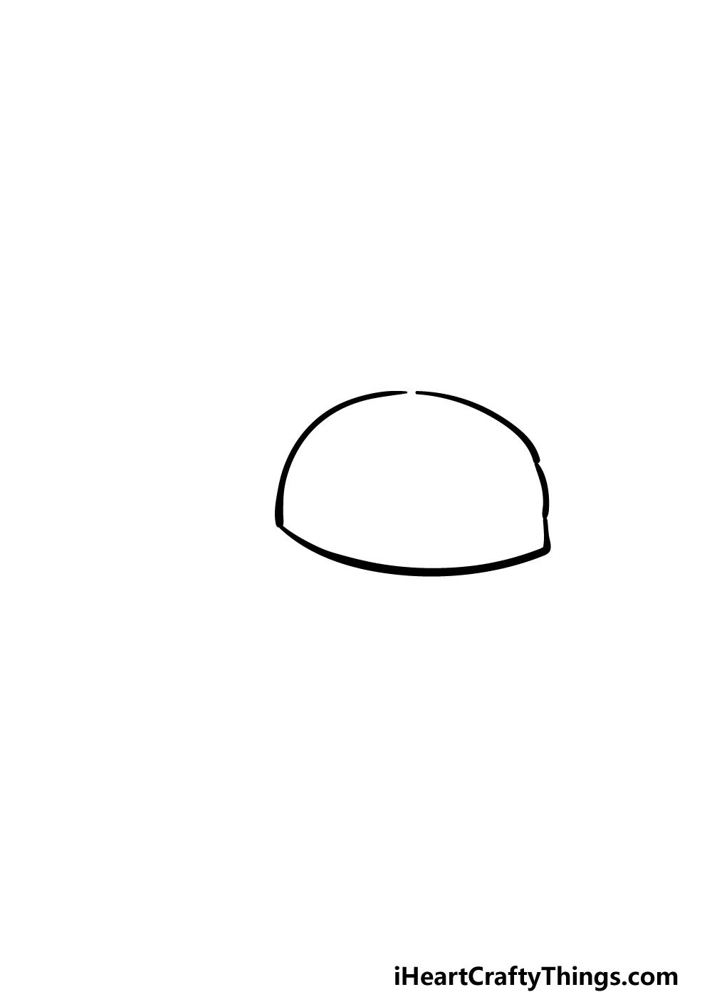drawing a cap step 1