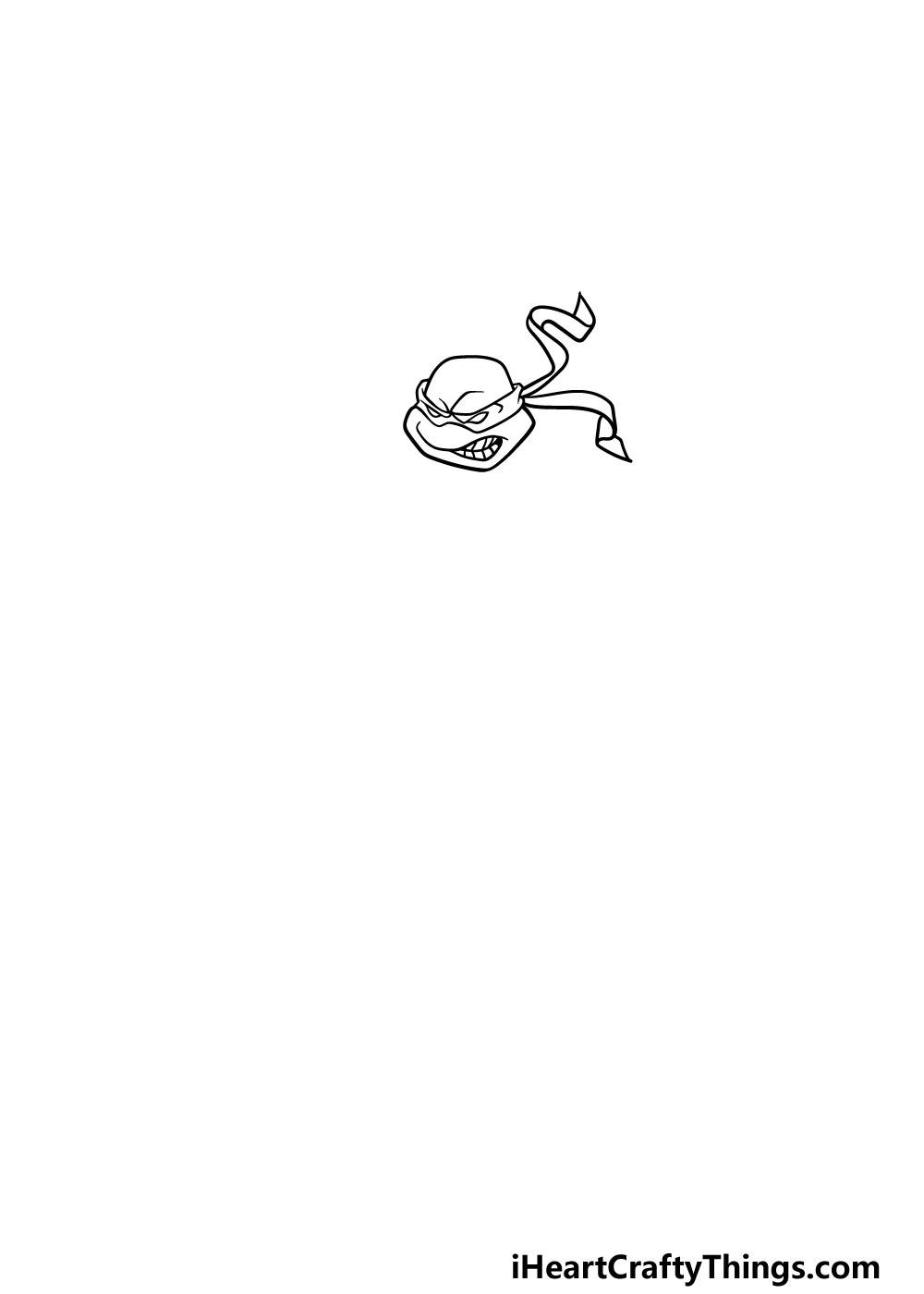 drawing ninja turtles step 1
