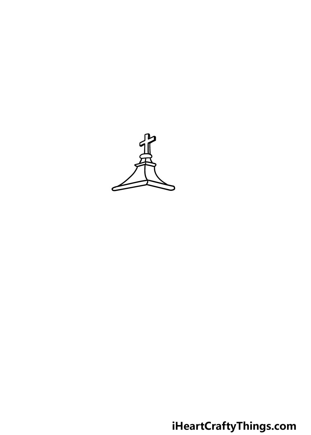 drawing a church step 1