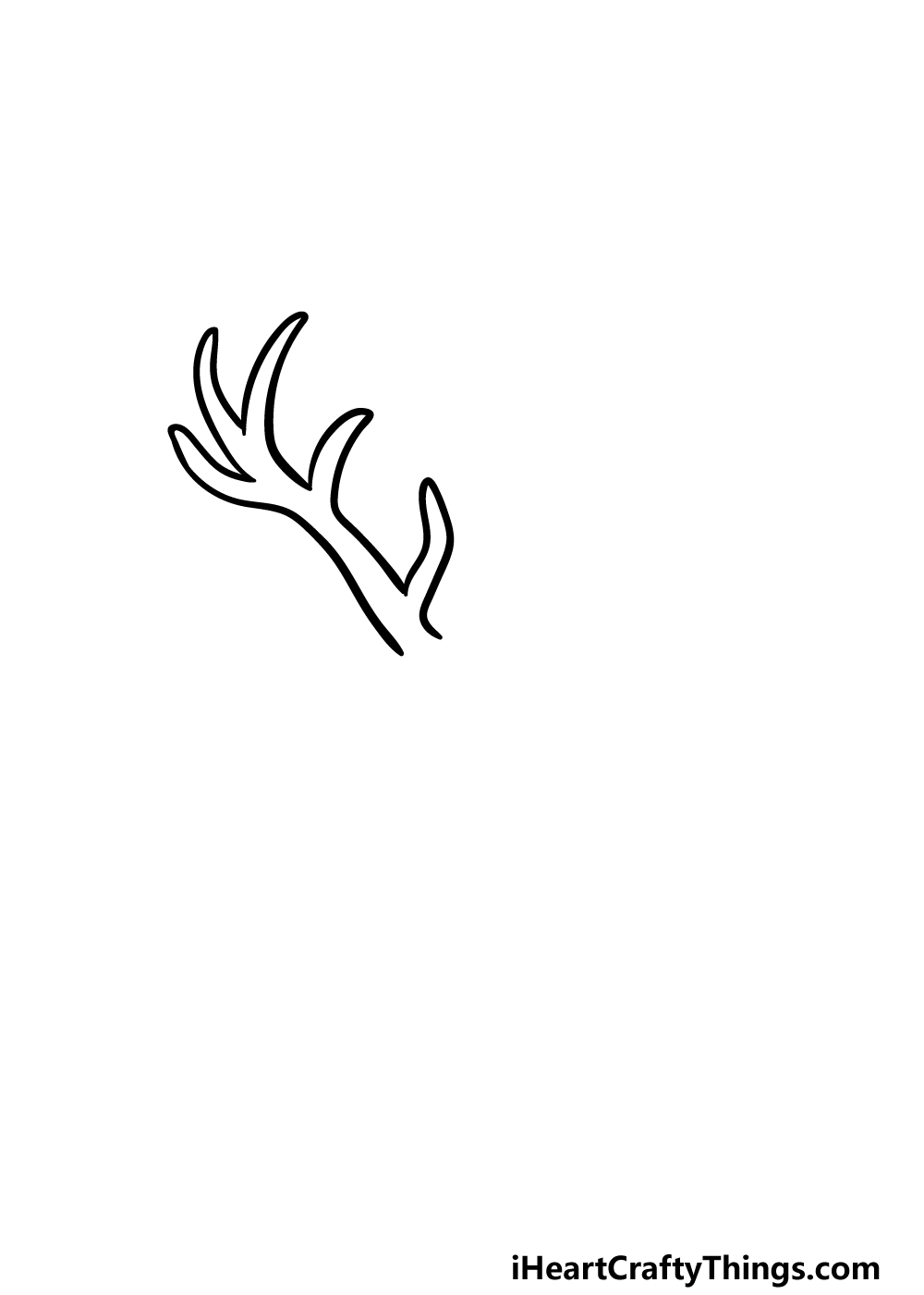 drawing deer's head step 1
