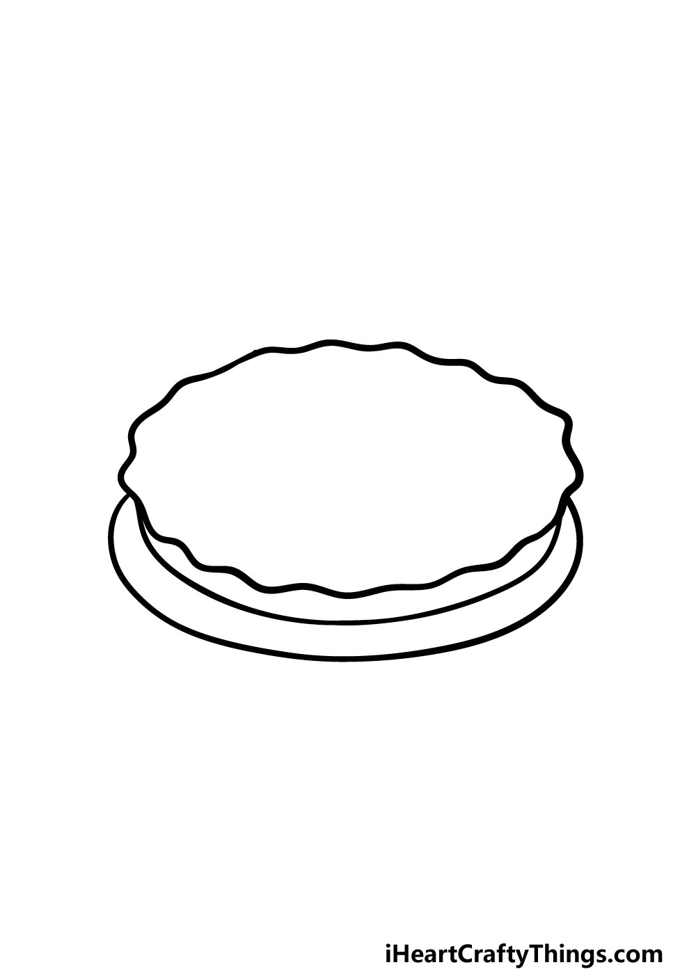 drawing a pie step 1
