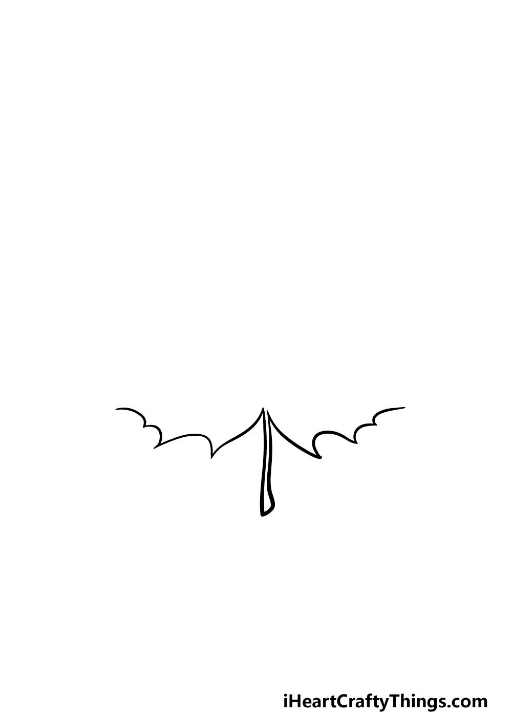 drawing a maple leaf step 1