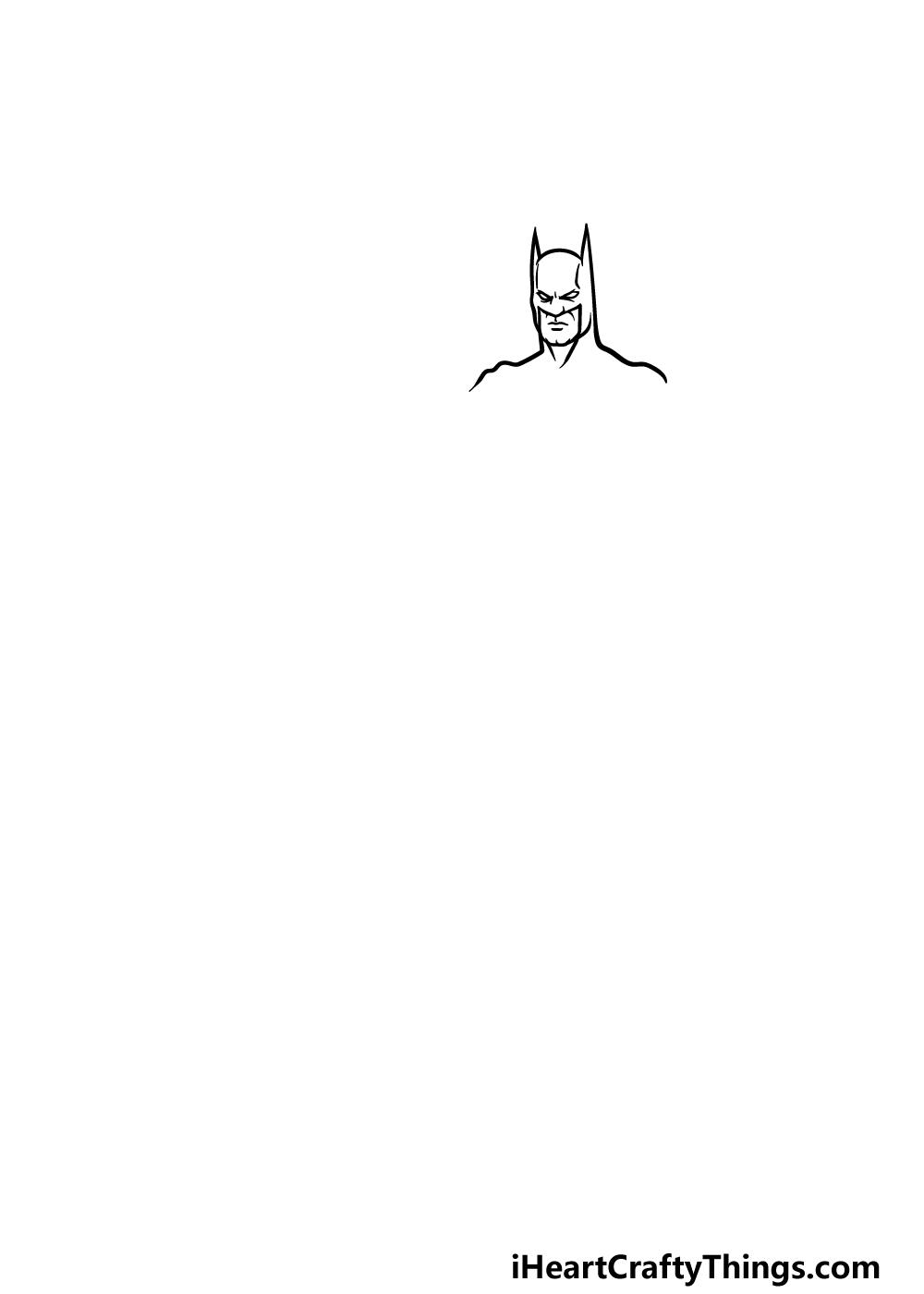 drawing Batman step 1