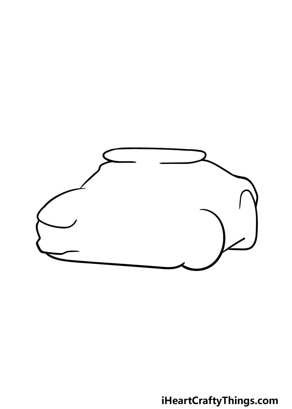 drawing a police car step 1