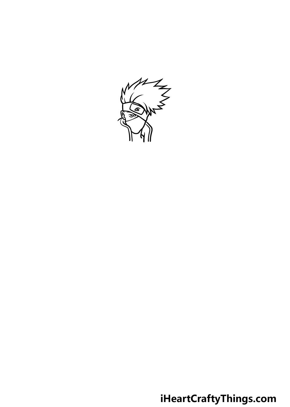 Drawing Kakashi step 1